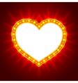Light heart vector image vector image
