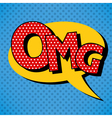 Comics Bubble with Expression OMG in Vintage Style vector image vector image
