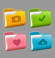Icons folders set vector image vector image