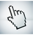 3d mouse hand cursor vector image vector image