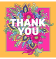 bouquet thank you vector image vector image