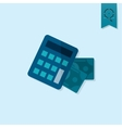 Calculator and Money vector image