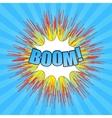 Comic boom wording vector image