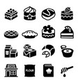 dessert icon set vector image