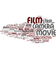 film word cloud concept vector image