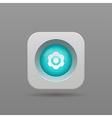 Gear button vector image