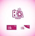 Photography camera aperture logo vector image