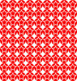 seamless star on red circle pattern background vector image
