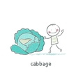 Cabbage and people vector image