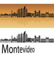 montevideo skyline vector image