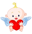 Valentines Day Cupid vector image vector image