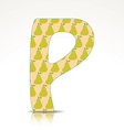 Letter p design with pattern vector image