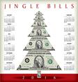Christmas calendar with a dollar Christmas tree vector image