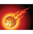 Fiery basketball ball vector image