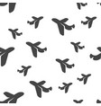 airplane seamless pattern vector image