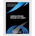 brochure folder leaflet vector image