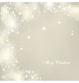 Christmas stars on silver background vector image