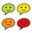 emoticon bubble text simple vector image