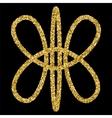 Golden glittering logo template vector image