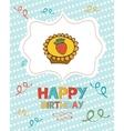Happy birthday card with sweet dessert vector image