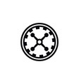 isolated wheel icon fortune element can be vector image