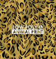low poly animal print vector image