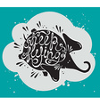 Phrase Keep flying with cute elephant vector image