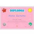 Preschool Kids Diploma certificate background vector image