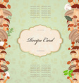 recipe card with mushrooms for your design vector image