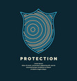 shield a symbol of protection and reliability vector image