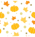 Seamless pattern with orange pumpkin vector image