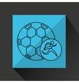 Winner silhouette sport soccer icon vector image