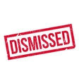 Dismissed rubber stamp vector image