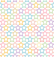 seamless pastel star pattern background vector image vector image