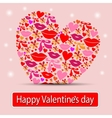Card with heart valentine vector image