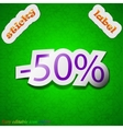 50 percent discount icon sign Symbol chic colored vector image