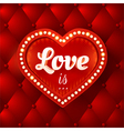 Flyer with red heart and lights vector image
