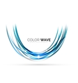 Glossy wave isolated on white background vector image