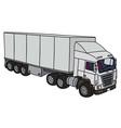 White semitrailer truck vector image