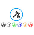 auction rounded icon vector image