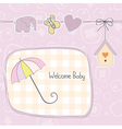 baby girl shower card vector image