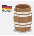 beer barrel ale germany vector image