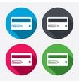 Credit card sign icon Debit card symbol vector image