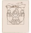 Elf carrying christmas presents cartoon vector image