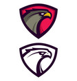 heraldic eagle mascot vector image