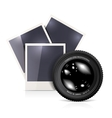 lens with photo frame vector image