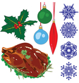 A collection of objects representing Christmas vector image vector image
