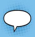 speech bubble in pop art comics style blue colors vector image vector image