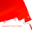 roller painting vector image vector image