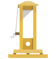 Guillotine EPS10 vector image vector image